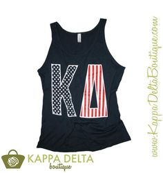 We're in a stars & stripes frame of mind in the  America Tank! Join in on the fun with KD Boutique!