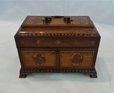 An impressive and very fine quality 18th century Chippendale period George III TEA CADDY c.1765 Quiet Street Antiques