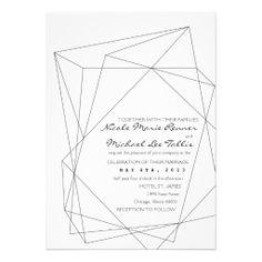add some colors Geometric Gemstone Wedding Invitation