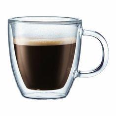 Bodum BISTRO 2-teiliges Espressotassen-Set (Doppelwandig, Isoliert, Sp�lmaschinengeeignet, 0,3 liters) transparent