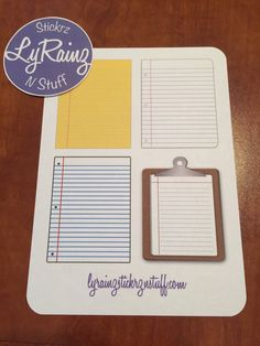 Little Notes ~ Passion Planner Classic Size by LyRainzStickrzNStuff on Etsy