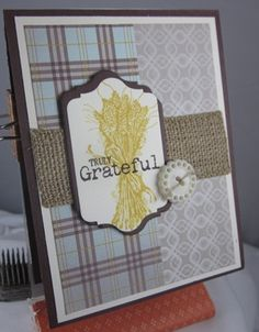 Truly Grateful Sweater Weather by Carol Payne - Cards and Paper Crafts at Splitcoaststampers