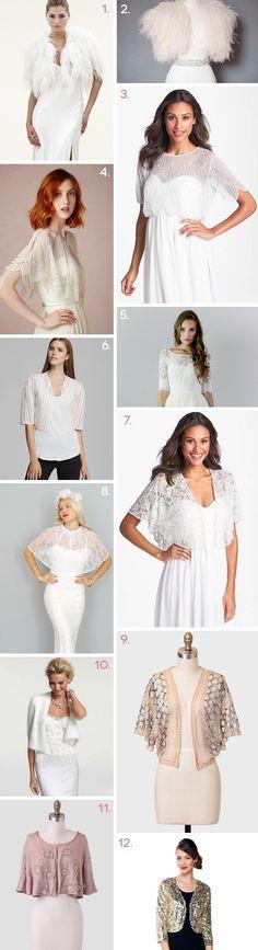 Bridal White tulle bolero /jacket /wedding cover up/3/4 sleeves ...