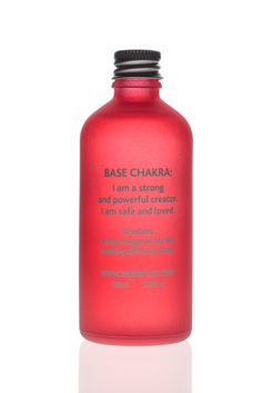 Base Chakra- Strength and Grounding Ylang Ylang aromatherapy oil Affirmation: I am a strong and powerful creator. I am safe and loved. Ruby Crystal Body Oil 100ml £15.00