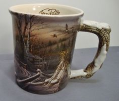 Terry Redlin 3D Coffee Mug Winter Hayride The Hadley Collection Geese Church