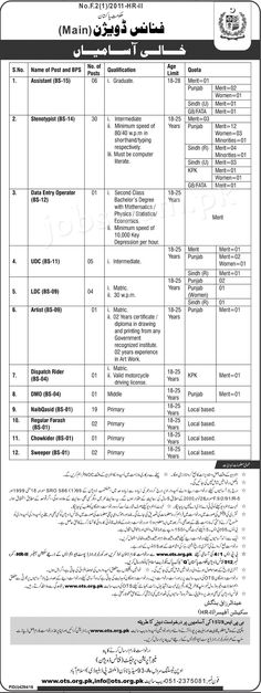 Finance Division Pakistan Governemnt Jobs 2017 Available for 73+ Vacancies on 19 February, 2017 | Paperpk Jobs