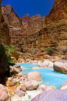 Havasu Creek, on the Colorado River in Grand Canyon, Grand Canyon National Park, Arizona