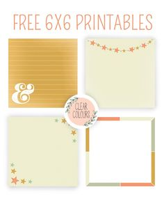 clear colours: Free 6x6 Printables