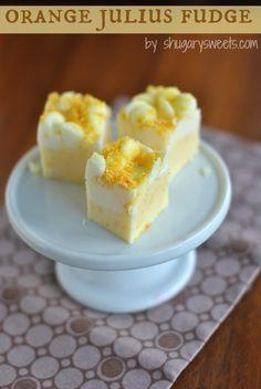 Orange Julius Fudge: creamy orange fudge