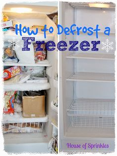 "Does your freezer need to be defrosted? Here is a ""how to"" for getting the job done during naptime. #freezer #defrost"