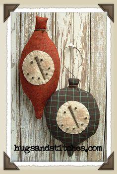 free primitive christmas ornie patterns   115 primitive snow bulb ornies pattern our primitive snow bulb ornies ...