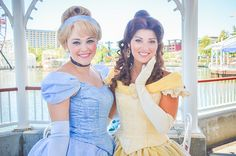 Cinderella and Belle - my two favorite princesses. Disney World Characters, Walt Disney World, Tokyo Disneyland, Disneyland Resort, Fantasy Princess, Princess Belle, Princess Aurora, Disney Cosplay, Disney Costumes