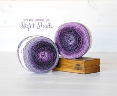 2 Hand Dyed Yarn Balls  100% Wool  2 Balls  by CraftyWoolFelt