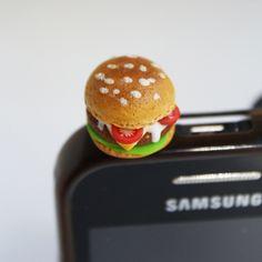 Burger zaślepka do telefonu w Lemon Lovely Słodka Biżuteria na DaWanda.com