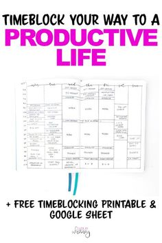 Learn to plan and timeblock your week so you can get more done! Download a free printable so you can schedule your weeks quickly, or plan it all in your journal!