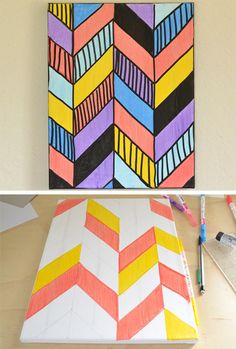 Diy canvas painting using painters tape home ideas - How to prepare walls for painting in a few easy steps ...
