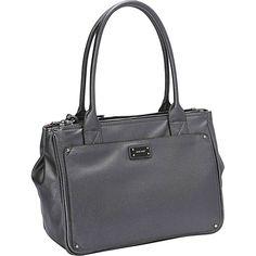 Nine West Handbags Double Vision Large Shopper Hematite - Nine West Handbags Manmade Handbags
