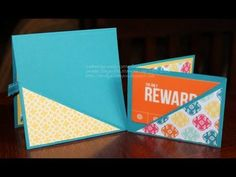 """Easiest Ever Gift Card Holder with Kelly Gettelfinger with a sneak peek of the """"Mosaic Madness"""" stamp set that is in the new Stampin' Up Catalog coming out soon."""