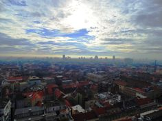 Zagreb from viewpoint Croatia, Airplane View