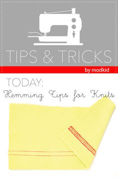 MODKIDBOUTIQUE: Tips & Tricks: Hemming Knits