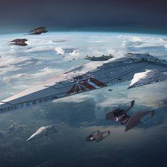 Star Wars Episode 4, Grand Admiral Thrawn, Star Wars Novels, Star Wars Vehicles, Star Wars Concept Art, Spaceship Concept, Star Wars Ships, Star Destroyer, First Order
