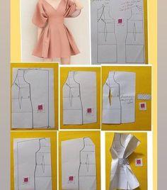 Fashion Sewing, Diy Fashion, Ideias Fashion, Dress Sewing Patterns, Clothing Patterns, Skirt Patterns, Coat Patterns, Blouse Patterns, Diy Clothing