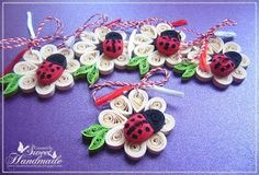 • Sweet Handmade •: Martisoare Quilling 2014 - Buburuza pe o floare Quilling Animals, Quilling Flowers, Quilling Designs, Quilling Cards, Paper Quilling, Crafts For Kids, Arts And Crafts, Quilling Christmas, Paper Cutting