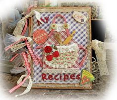 Country Kitchen Recipe Book **Scraps Of Darkness** August Kit~Rustic - Scrapbook.com