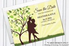 Save The Date, Summer Wedding, Outdoor Wedding, PRINTABLE by H20WhiteLacePromises on Etsy