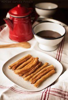 Churros con chocolate | Recetas con fotos paso a paso El invitado de invierno