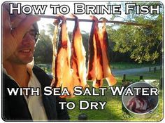 How to Brine Fish with Sea Salt Water to Dry - Homesteading - The Homestead Survival .Com
