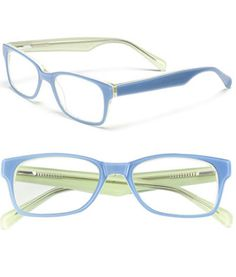 Cool blue eyeglasses