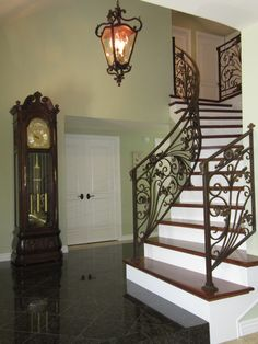 French-inspired stair railing.