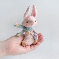 Teddy Bunny Rabbit  15cm by KittyAprilHandmade on Etsy