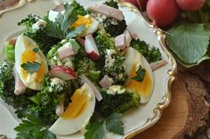 sałatka z brokułami, jajkiem i szynką Appetizers Table, Cooking Recipes, Healthy Recipes, I Love Food, Salad Recipes, Salads, Clean Eating, Food And Drink, Yummy Food