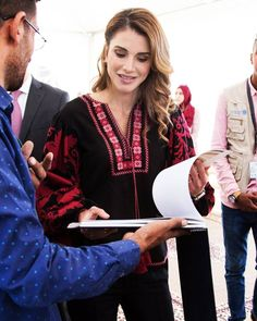 Queen Rania of Jordan at the Jordanian Assn for Human Development.June 22, 2017