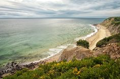 We walked this beach and it was amazing, the waves were incredible and they were so refreshing after the uphill bike ride there.  -Block Island