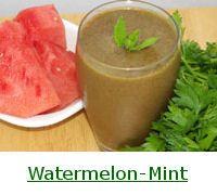 Watermelon-Mint Green Smoothie
