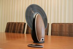 The Vertical Vinyl player fits retro into an awesome Modern design