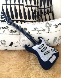 "Plush pillow-Electric Guitar ""Rock"", ideal gift for everyone !"