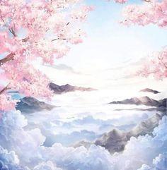 Anime Backgrounds Wallpapers, Anime Scenery Wallpaper, Aesthetic Pastel Wallpaper, Pretty Wallpapers, Animes Wallpapers, Fantasy Art Landscapes, Fantasy Artwork, Arte 8 Bits, Cherry Blossom Wallpaper