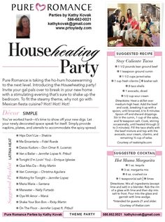 Pure Romance Theme Parties... Visit my website www.pureromance.com/ashleyburns155705