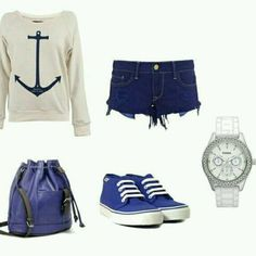 Adoreable outfit for walking on the beach or something.