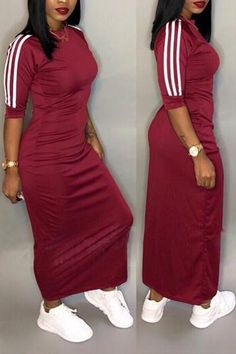 Casual Half Sleeve Stripe Midi Dress Plus Size Feel effortlessly modern and stylish in this,if you want to see our complete catalog of dresses, please browse our menu. SEE DETAILS. Midi Dress Plus Size, Plus Size Dresses, Classic Outfits, Cute Outfits, Plus Size Womens Clothing, Clothes For Women, Plus Size Fashion Tips, Striped Midi Dress, Two Piece Outfit