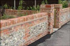 Brick and stone walls by Silvertree Gardens Brick Wall Gardens, Garden Walls, Brick And Stone, Stone Walls, Brick Walls, Garden Wall Designs, Brick Design, Brickwork, Garden Stones