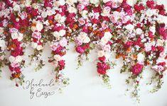 Flower garlands made by Handmade by Encza. flower garland, girlandy kwiatowe, ślub, wedding, wedding flower