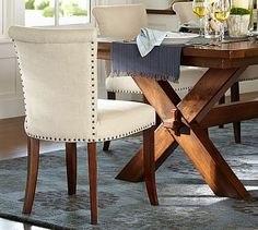 Need new dining chairs....good option...Spencer Side Chair #potterybarn