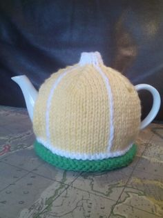 """Lemon tea anyone?"" Tea cosy #teatime"