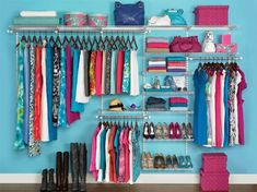 Stacey shares 17 closet organization hacks to start your spring cleaning early. She already cleaned out her closet over Christmas, so she& sharing tips. Closet Storage Systems, Best Closet Organization, Organization Hacks, Closet System, Clothing Organization, Wardrobe Organisation, Clothing Racks, Diy Clothing, Closet Clothing