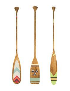 Canoe-paddles